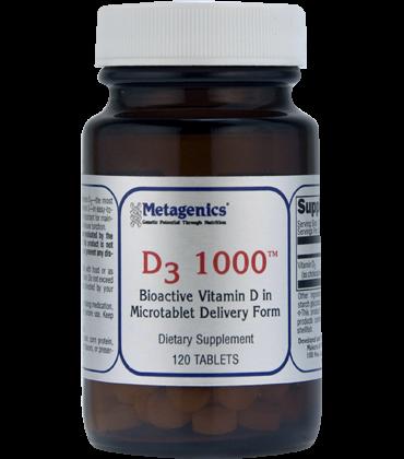 D3 1000   Metagenics   Bone, Cardiovascular, Immune