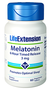 Melatonin 6-Hour Timed Release - Life Extension - Sleep Cycle - 01786