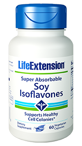 Super Absorbable Soy Isoflavones - Life Extension - non GMO - 01649