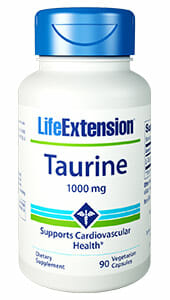 Taurine | Life Extension | Cardiovascular - Immune - Liver - Eye - Hearing