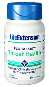 FlorAssist Throat Health | Life Extension | Probiotic - Anti-inflammatory