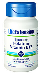 Life Extension BioActive Folate & B12