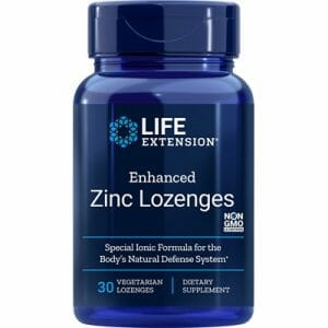 life extension enhanced zinc lozenges, 30 count