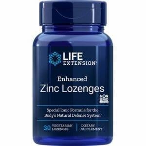 life extension enhanced zinc lozenges, 30 count