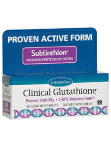 clinical glutathione, reduced glutathione, euromedica, sublinthion, slow melt