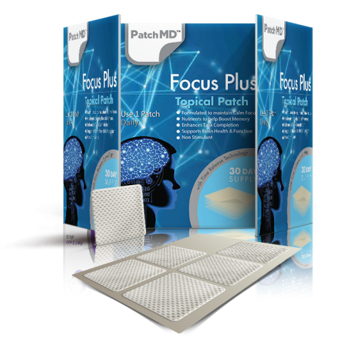 PatchMD Focus Plus Topical Patches