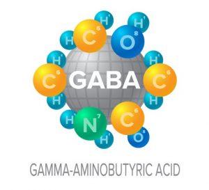 Neurotransmitters vector signs with associative molecular structures set. gaba