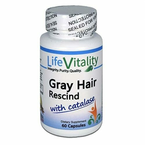 Life Vitality Gray Hair Rescind with Catalase, 60 Capsules