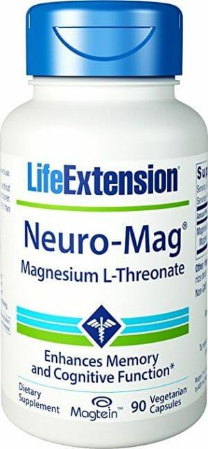 neuro-mag, life extension, lef, le, brain, magnesium