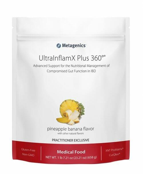 metagenics, ultrainflamx plus 360, pineapple