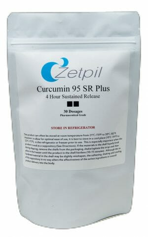 zetpil, curcumin suppositories, antioxidant, anti-inflammatory, Curcumin 95 SR Plus Suppositories