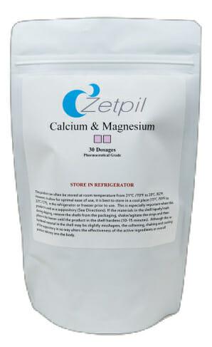 calcium and magnesium suppositories, zetpil, bone health