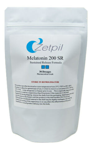 melatonin, melatonin suppositories, 200 mg, zetpil, sleep, antioxidant