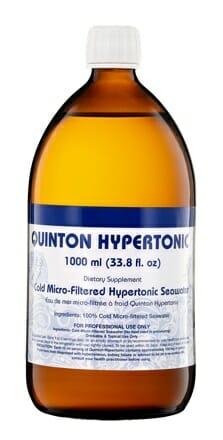 original quinton hypertonic, 1 liter, seawater, minerals, electrolytes, quicksilver scientific