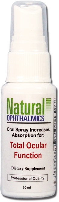 Natural Ophthalmics Total Ocular Function Oral Absorption Spray