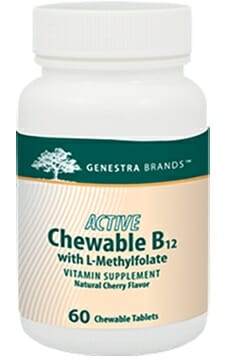 Genestra | Active Chew B12 w/L-Methylfolate | 02164 | Energy - Vitamin