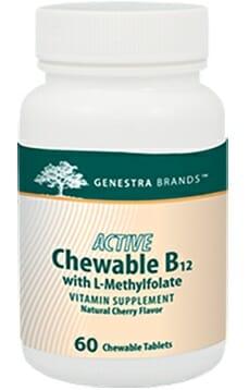 Genestra | Active Chew B12 w/L-Methylfolate | 02164 | Energy - Vitamin