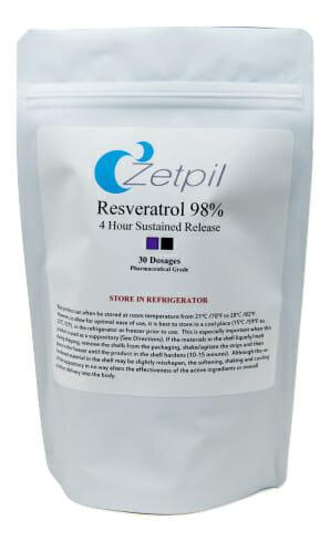 Zetpil Resveratrol 98% Suppositories
