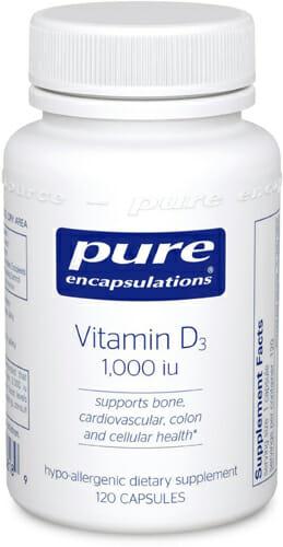 D3 1000 IU - Pure Encapsulations - Bone, Cardiovascular - VD11