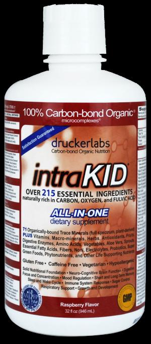 intraKID - Drucker Labs - Vitamins, Minerals, Children - INKID33oz, fulvic acid