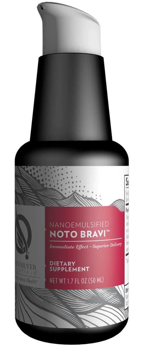Noto Bravi | Quicksilver Scientific | Nootropic - Liposomal - Ginseng, brain, cognitive function, bioavailable, herbal, benefits, bioavailability, Breviscapine, Epimedium Brevicornum, adaptogenic
