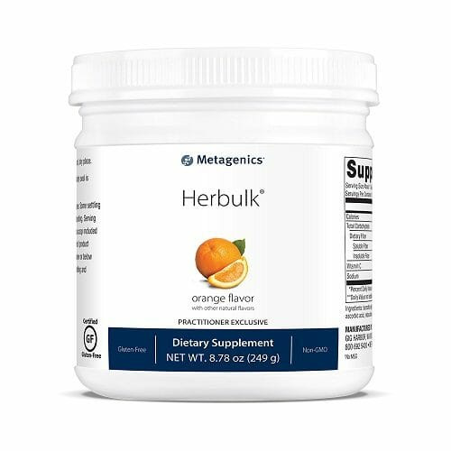 Herbulk | Metagenics | Psyllium Husk - Fiber - Prebiotic - Powder - detoxification - detox