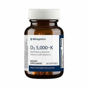 D3 5,000 + K | Metagenics | Synergistic Bone & Cardio Support - 5000 IU