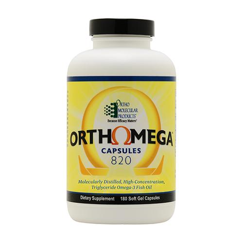 Orthomega 820 | Ortho Molecular Products | EPA & DHA, 180 Softgels