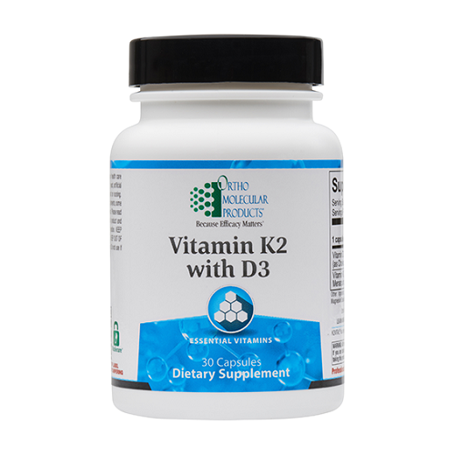Ortho Molecular Products Vitamin K2 with D3, Vitamin K2 with D3 | Ortho Molecular Products | MenaQ7 PRO, 60 Caps