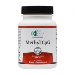 Methyl CpG | Ortho Molecular Products | Folate - Homocysteine, 60 Caps, methylation, b-complex vitamins, cardiovascular health