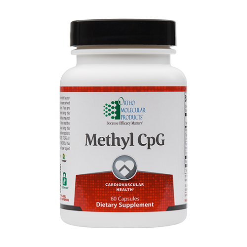 Methyl CpG | Ortho Molecular Products | Folate - Homocysteine, 60 Caps, methylation, b-complex vitamins, cardiovascular health