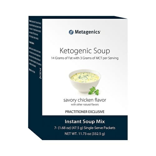 Ketogenic Soup | Metagenics | Savory Chicken Flavor, 7 Servings, ketones, convenient, on-the-go