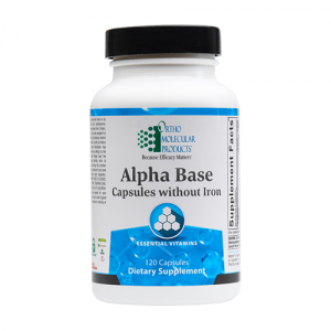 Alpha Base Capsules | Ortho Molecular Products, without iron, multivitamin, ortho molecular products alpha base capsules, micronutrient, micronutrients