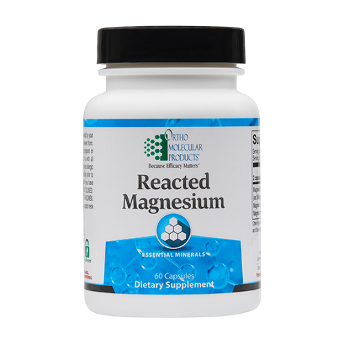 Reacted Magnesium | Ortho Molecular Products | Bioavailable, 60 Caps, essential minerals, cardiovascular, cognitive function