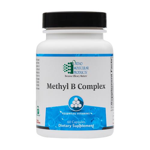 Methyl B Complex | Ortho Molecular Products | 60 Capsules, homocysteine, methylation, b-complex vitamins