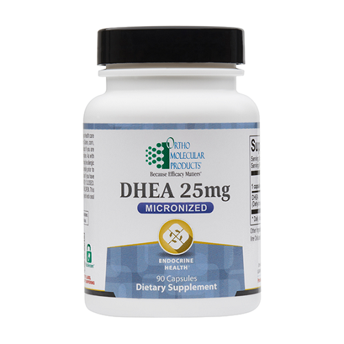 Ortho Molecular Products DHEA 25mg, anti-aging, 25 mg
