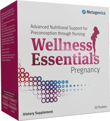 """When asking the question, """"How do I choose a prenatal vitamin?"""" Choose Metagenics Wellness Pregnancy Packets"""
