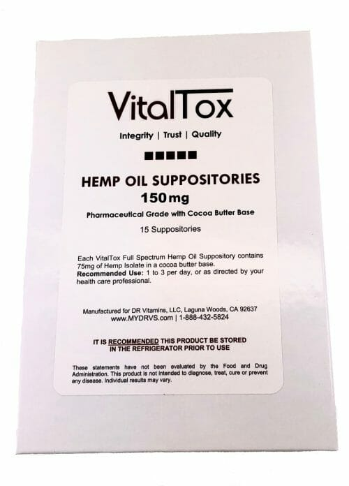 "To answer the question, ""Which suppository is best for constipation? Choose VitalTox Hemp Oil Suppositories"