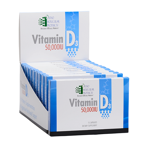 Ortho Molecular Products Vitamin D3 50,000 IU, 15 capsules, 10 blister packs