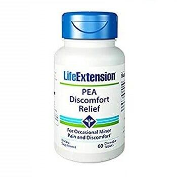 PEA Discomfort Relief | Life Extension | 600 mg - Minor Pain, 60 chewable Tablets, Life Extension PEA Discomfort Relief
