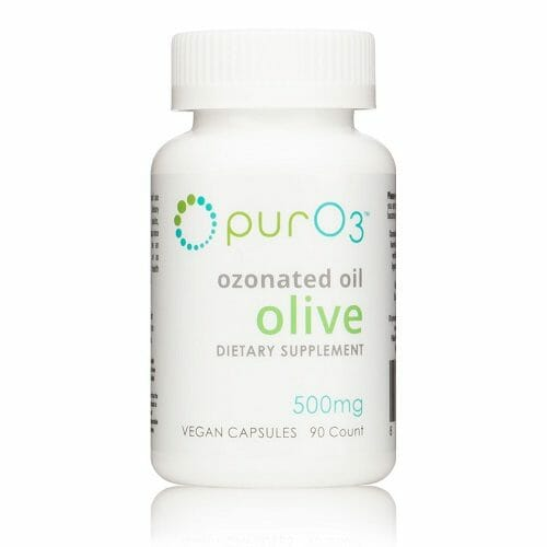 PurO3 Ozonated Olive Oil Capsules, 90 capsules, antioxidant, anti-inflammatory, antimicrobial, ozone