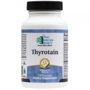 Thyrotain | Ortho Molecular Products | Inositol & Tyrosine, 120 Capsules, Ortho Molecular Products Thyrotain