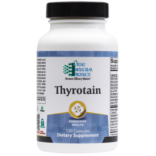 Thyrotain | Ortho Molecular Products | Inositol & Tyrosine, 120 Capsules, Ortho Molecular Products Thyrotain