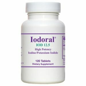 Optimox Iodoral IOD 12.5, 120 tablets, iodine, potassium iodide