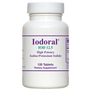 Optimox Iodoral IOD 12.5, 120 tablets, iodine, potassium iodide