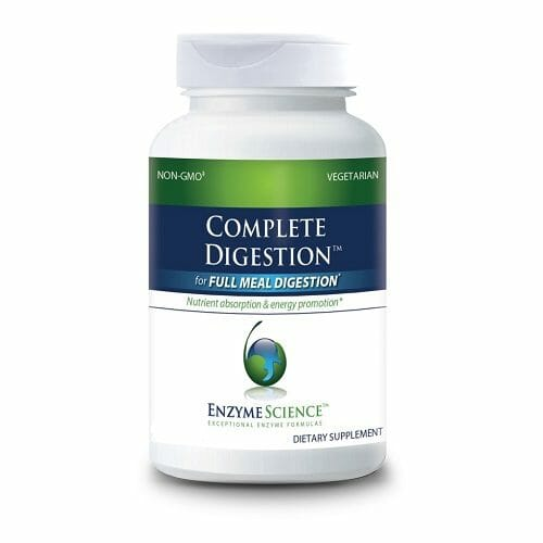 Enzyme Sciences Complete Digestion, Plant-Based Enzymes & Probiotics, 90 Vegetable Capsules