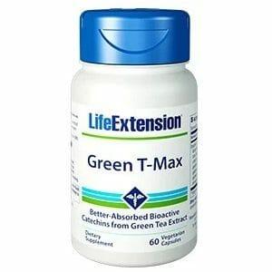 Life Extension Green T-Max, 60 vegetarian capsules