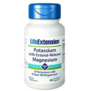 Life Extension Potassium with Extend-Release Magnesium, 60 vegetarian capsules
