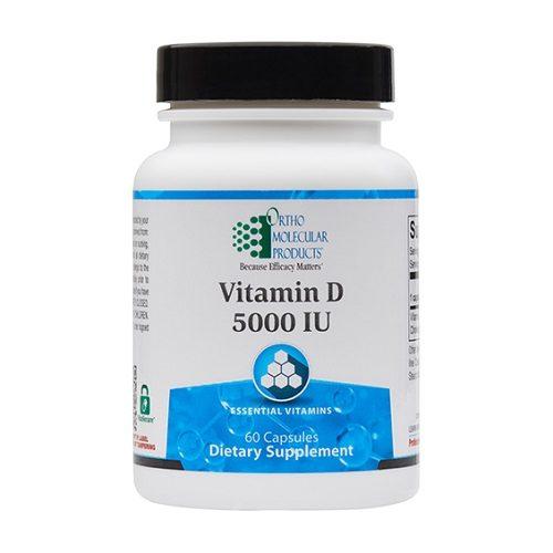Ortho Molecular Products Vitamin D 5000 IU, 120 capsules