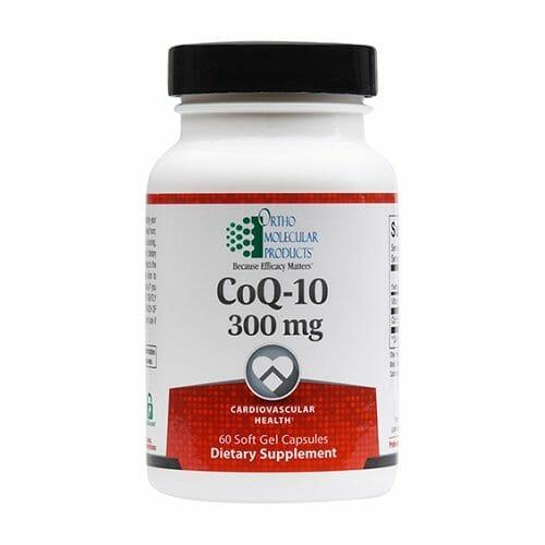 Ortho Molecular Products CoQ-10 300 mg, 60 Softgels